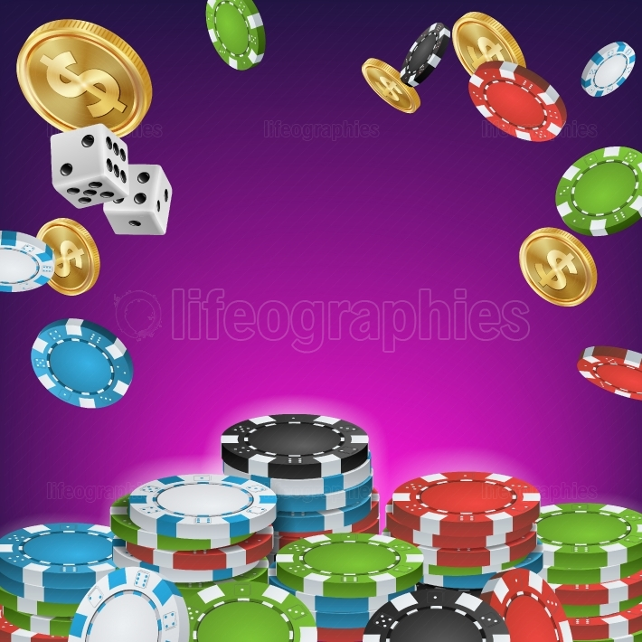 Casino Banner Vector  Online Poker Gambling Casino Banner Sign  Bright Chips, Dollar Coins  Jackpot Casino Billboard, Signage, Marketing Luxury Poster Illustration