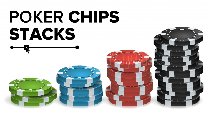 Casino Chips Stacks Vector  Realistic Colored Online Poker Game Chips Set Isolated Illustration