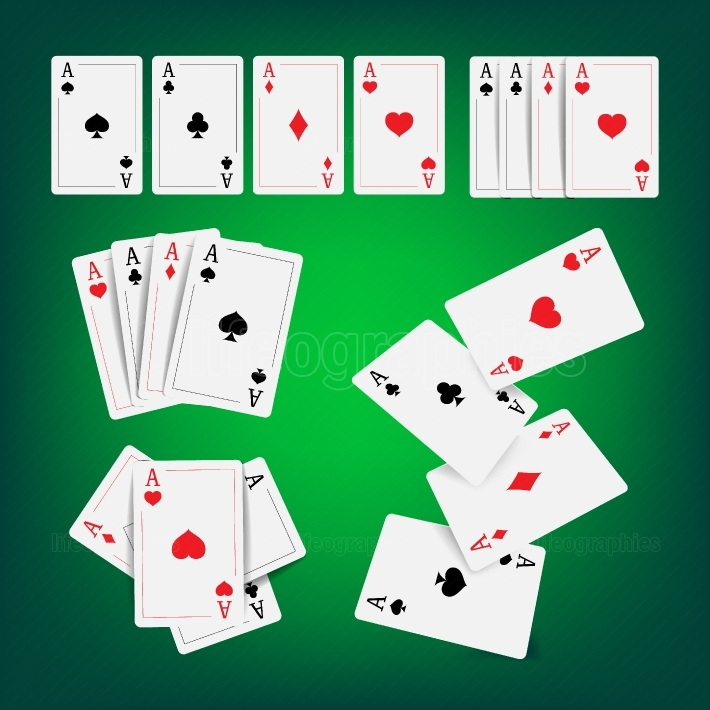 Casino Poker Cards Vector  Classic Playing Gambling Cards Realistic Illustration