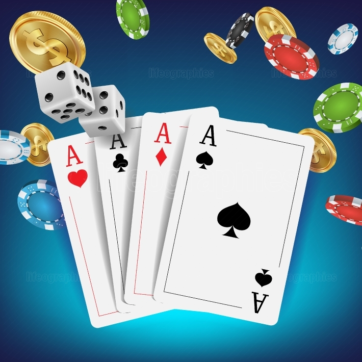 Casino Poker Design Vector  Poker Cards, Chips, Playing Gambling Cards  Royal Poker Club Emblem Concept  Fortune Background Realistic Illustration
