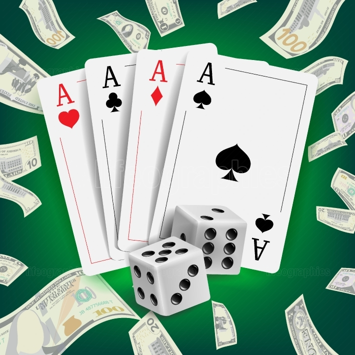 Casino Poker Design Vector  Poker Cards, Playing Gambling Cards  Lucky Night VIP Winner Concept  Realistic Illustration