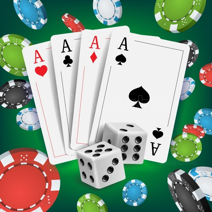 Casino Poker Design Vector  Poker Cards, Playing Gambling Cards  Poker Cards, Chips, Playing Gambling Cards  Online Casino Lucky Background Concept  Realistic Illustration