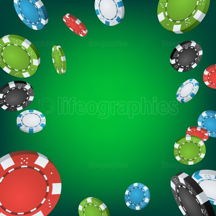 Casino Winner Background  Falling Explosion Gambling Poker Chips Illustration  Jackpot Prize Design Illustration