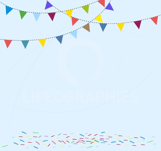 Celebration background with flag bunting