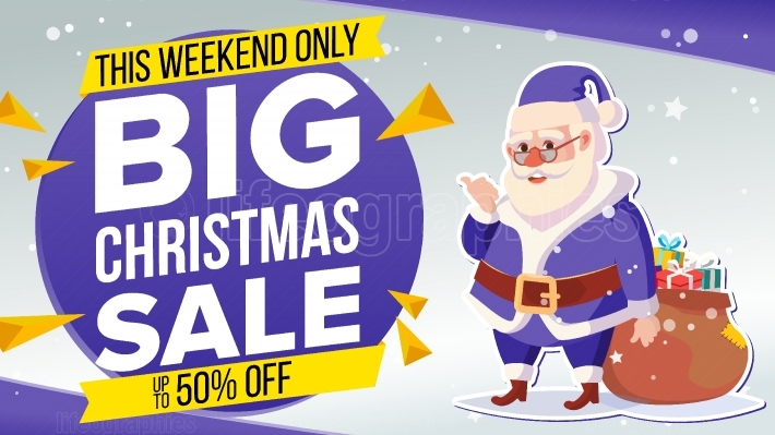 Christmas Sale Banner With Classic Santa Claus Vector  Advertising Design Illustration  Design For Xmas Party Poster, Brochure, Card, Shop Discount Advertising