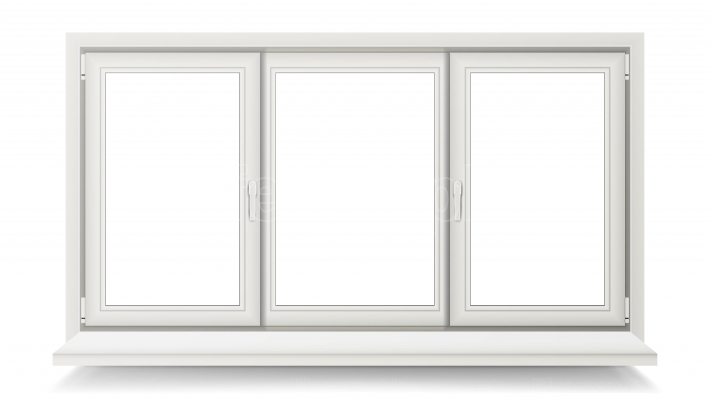 Closed Plastic Window Vector  Isolated On White Illustration