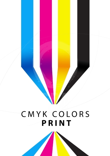 CMYK colors print presentation