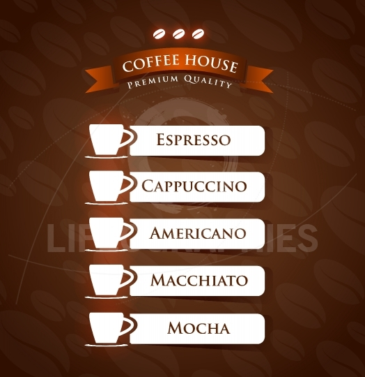 Coffee House Premium Quality menu list designs