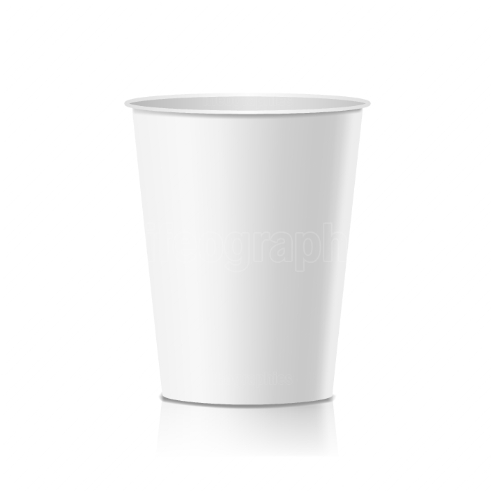 Coffee Paper Cup Vector  Empty Clean Paper Or Plastic Container For Drink  Isolated Illustration