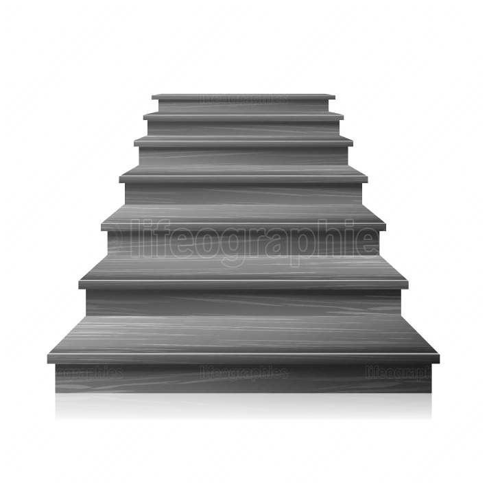 Dark Empty Staircase Vector  Steps  For Business Progress, Achievement, Growth, Career, Success, Development Concept  Isolated