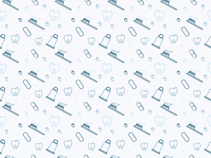 Dental seamless pattern Seamless vector pattern in a dental line