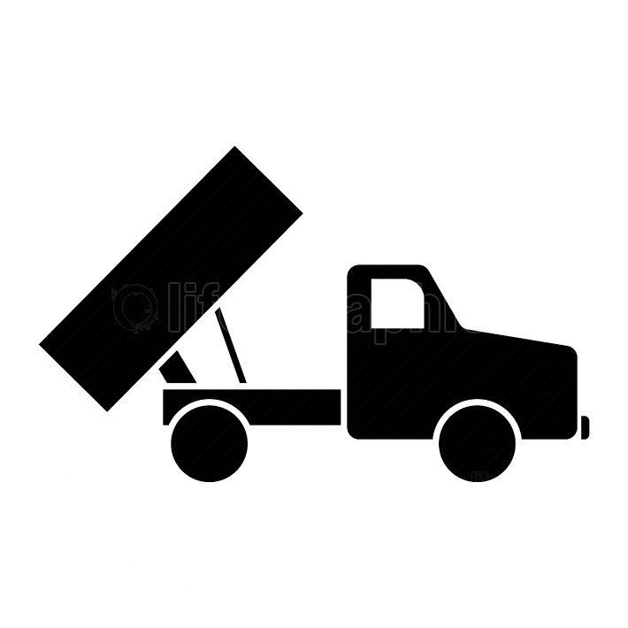 Dumper black color icon