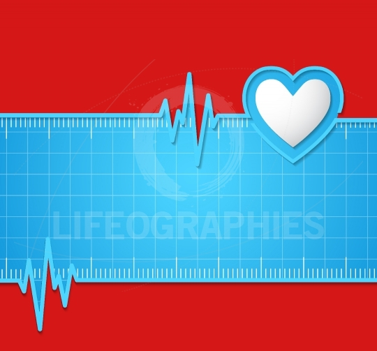 Electrocardiogram.Useful as background for medical,electrocardio