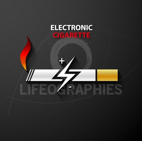 Electronic cigarette icon