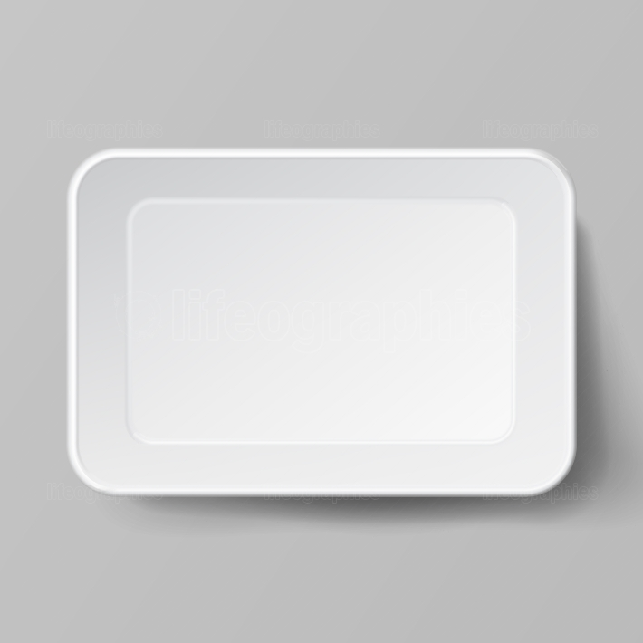 Empty Blank Styrofoam Plastic Food Tray Container  White Empty Mock Up  Good For Package Design
