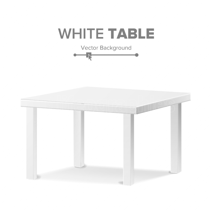 Empty Table Vector  Isolated Furniture, Stand  Clean