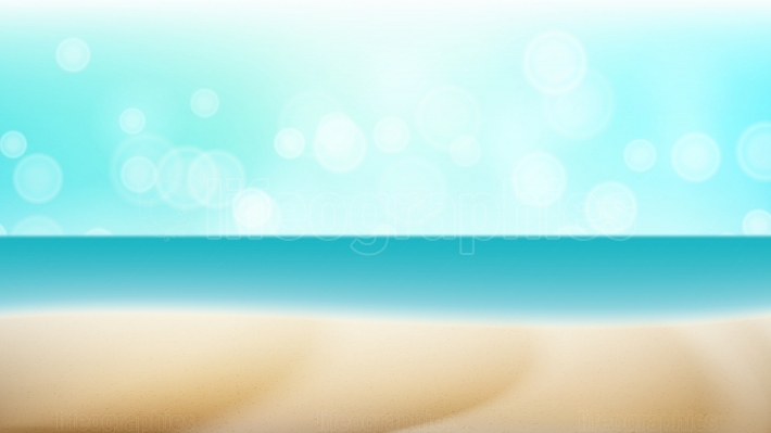 Empty Tropical Beach Background Vector  Seascape Tropical Illustration  Travel Holiday Adventure Concept  Exotic Illustration