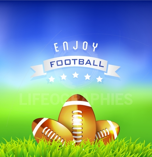 Enjoy  Football American Time Background