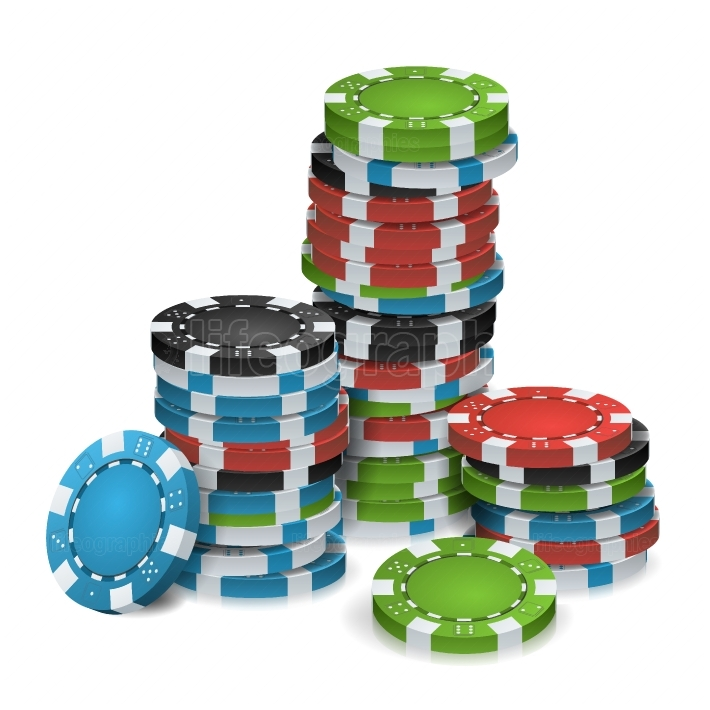 Gambling Chips Stacks Vector  3D Realistic  Poker Game Chips Isolated On White Background For Online Casino, Gambling Club, Poker, Billboard