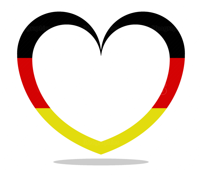 germany flag with heart