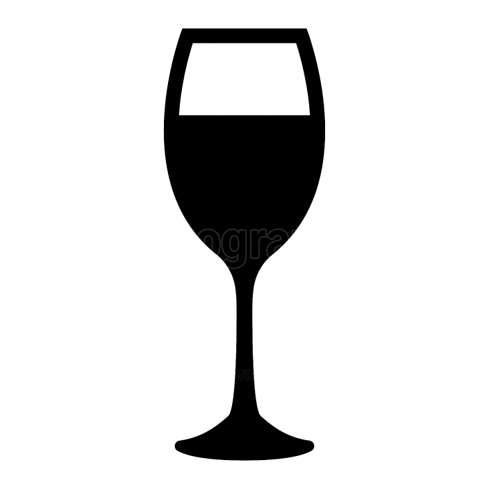 Glass of wine black color icon