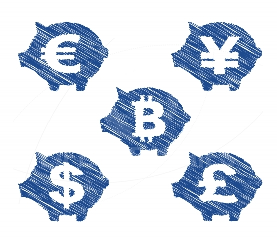 Hand drawn currency icons