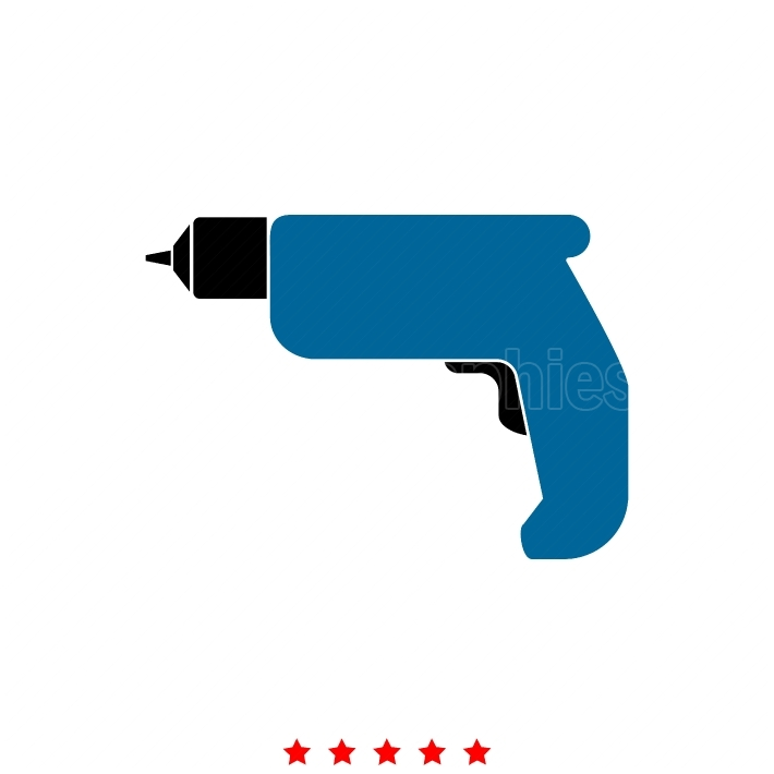 Hand drill it is icon