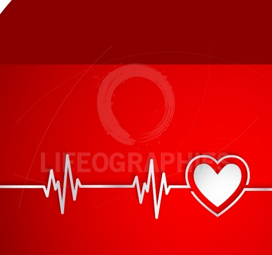 Heart beat with heart shape.Useful as medical background