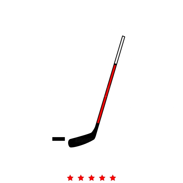 Hockey sticks and puck it is icon