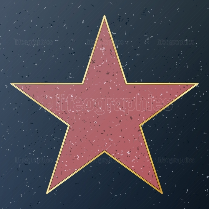 Hollywood Walk Of Fame  Vector Star Illustration  Famous Sidewalk Boulevard  Public Monument To Achievement
