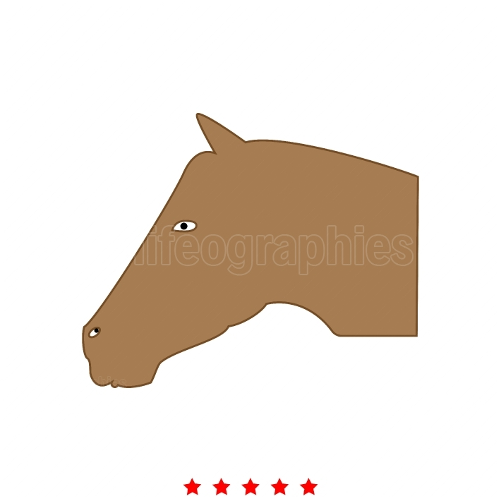 Horse head it is icon