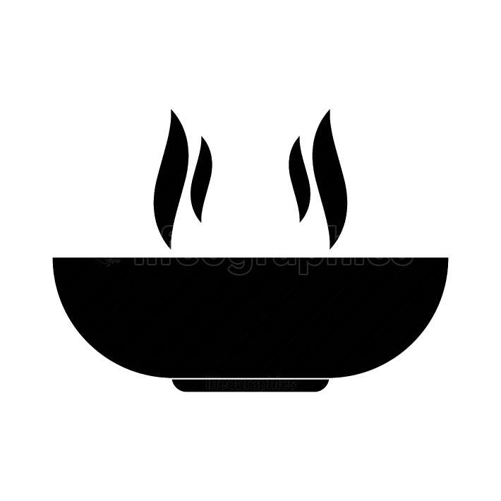 Hot dish black color icon
