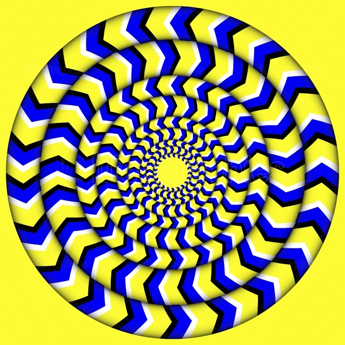 Hypnotic Of Rotation  Perpetual Rotation Illusion  Background With Bright Optical Illusions of Rotation  Optical Illusion Spin Cycle  Vector Illustration