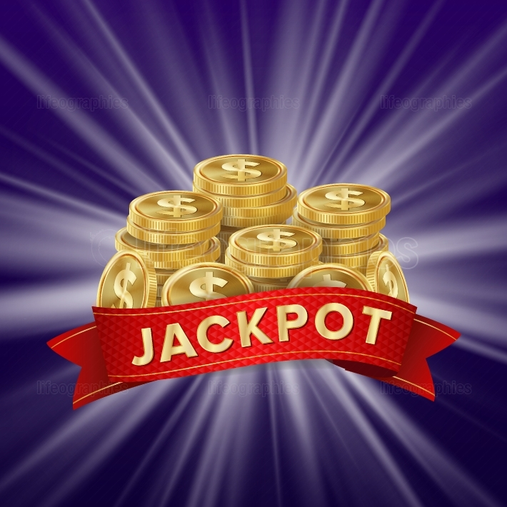Jackpot Background Vector  Golden Casino Treasure  Big Win Banner For Online Casino, Card Games, Poker, Roulette