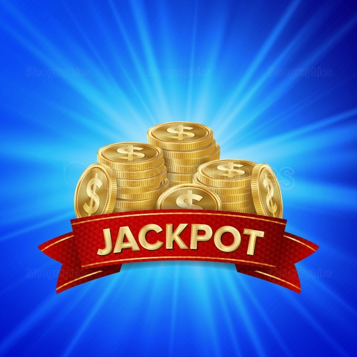 Jackpot Background Vector  Golden Casino Treasure  Winner Concept Illustration  Gold Coins