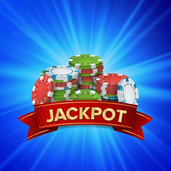 Jackpot Big Win Sign Vector Background  Design For Online Casino, Poker, Roulette, Slot Machines, Playing Cards, Mobile Game
