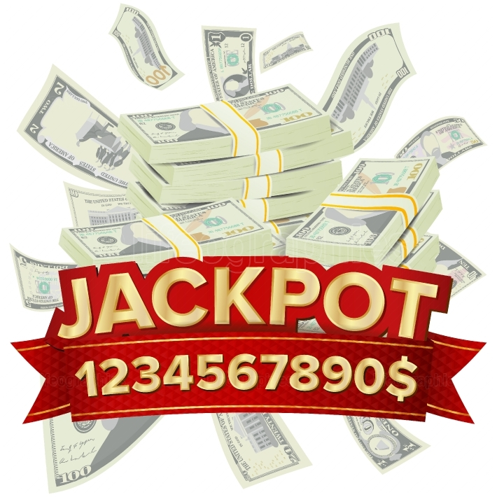 Jackpot Isolated Vector  Golden Casino Treasure