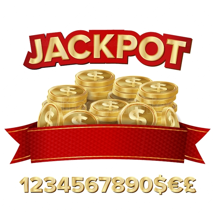 Jackpot Isolated Vector  Shining Banner Illustration