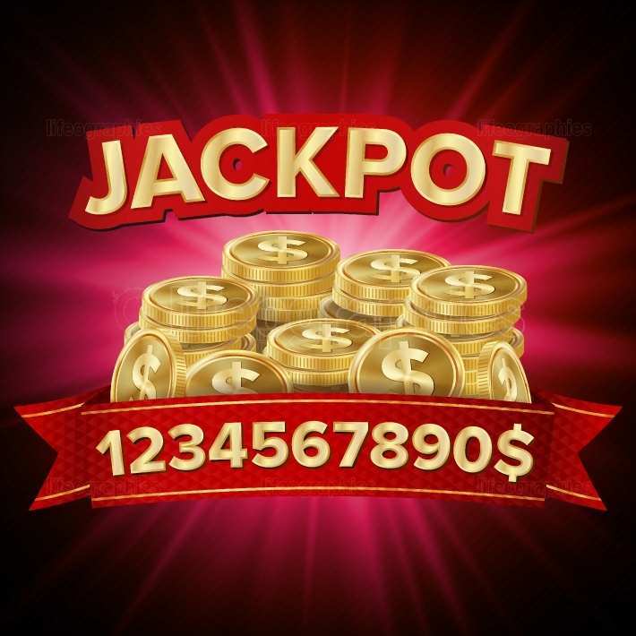 Jackpot Vector  Casino Background For Luck, Money, Jackpot, Play, Lottery Illustration