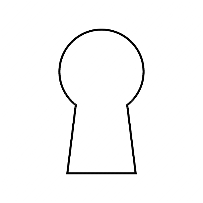 Keyhole black color icon