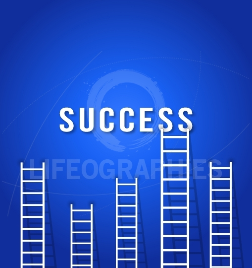 Ladder to SUCCESS - concept business competition success