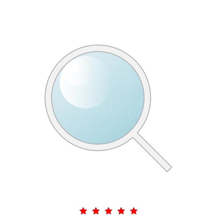Magnifying glass or loupe it is icon