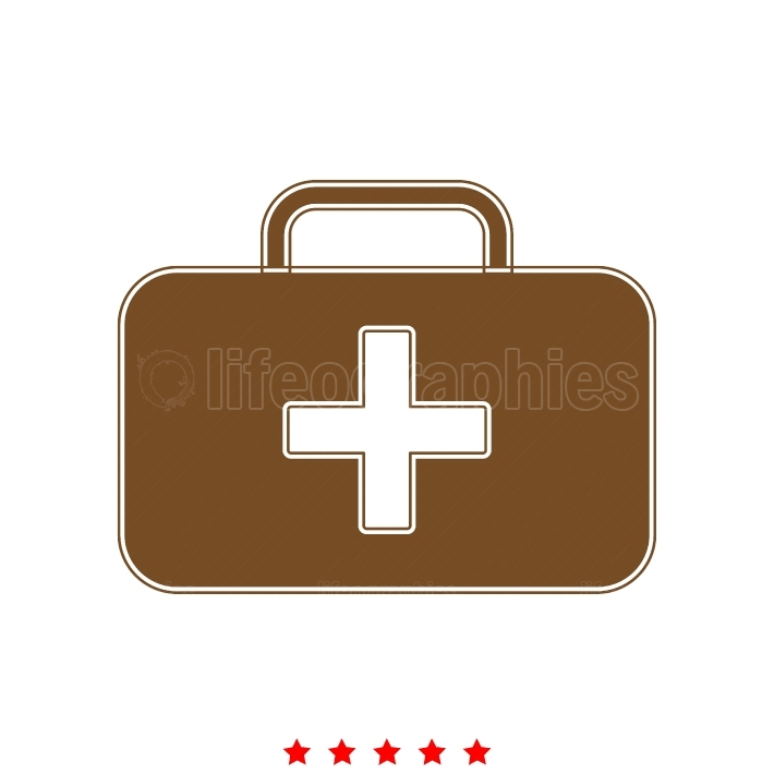 Medical case it is icon
