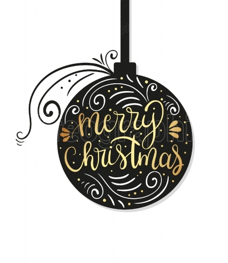 Merry Christmas lettering template