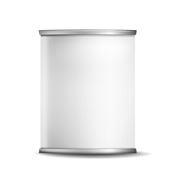 Metal Tin Box Can Vector  3d Realistic Empty Packaging Container  For Baby Powder Milk, Tea, Coffee, Cereal  Mock Up Blank Isolated On White Background Illustration