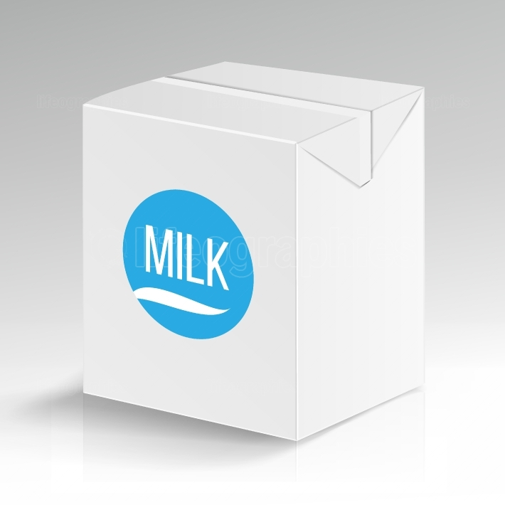 Milk Carton Package Vector Blank  White Carton Branding Box Isolated  Empty Clean Cardboard Package Drink Milk Box Blank  Vector Illustration