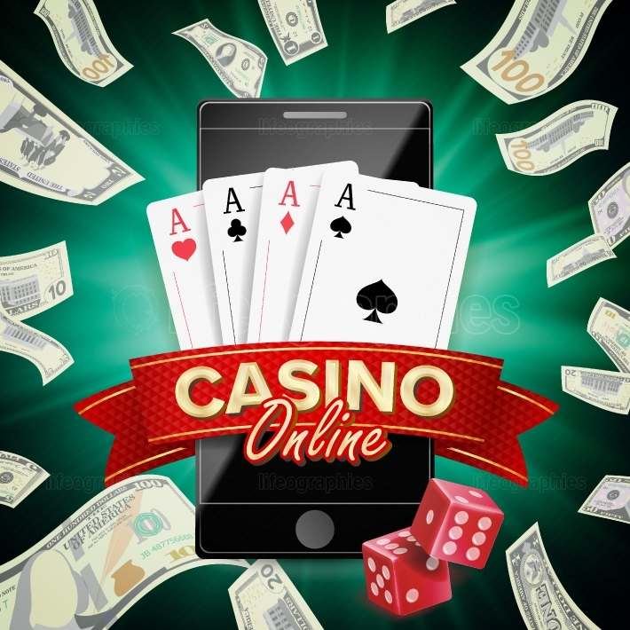 Online Casino Poster Vector  Modern Mobile Smart Phone Concept