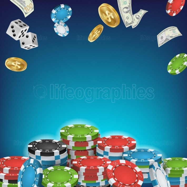 Online Casino Poster Vector  Poker Gambling Casino Sign  Bright Chips, Flying Dollar Coins, Banknotes Explosion  Winner Concept  Jackpot Billboard, Marketing Luxury Illustration