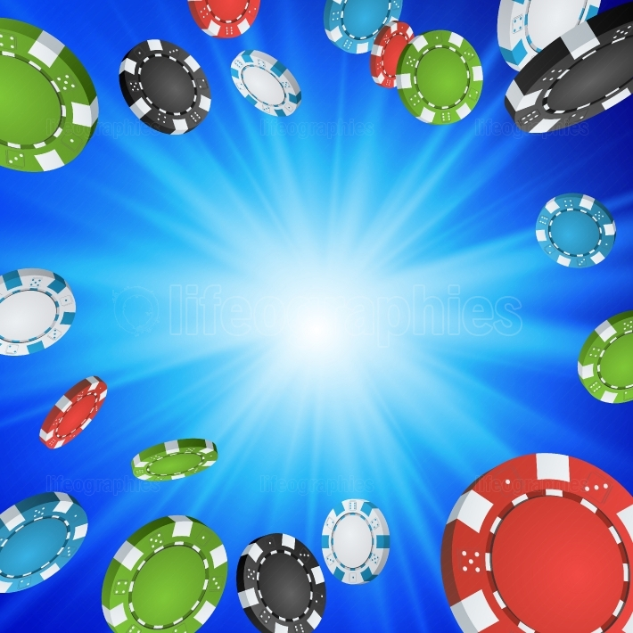 Online Casino Winner Background  Explosion Poker Chips Illustration  Cash Winning Prize Money Concept Illustration