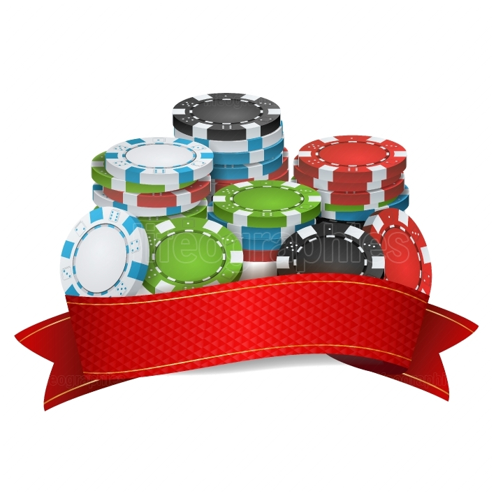Online Casino Winner Background Vector  Poker Chips Illustration  Cash Winning Prize Money Concept Illustration